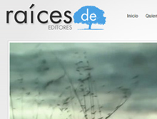 "Video y diseño web para la editorial ""Raices de"""